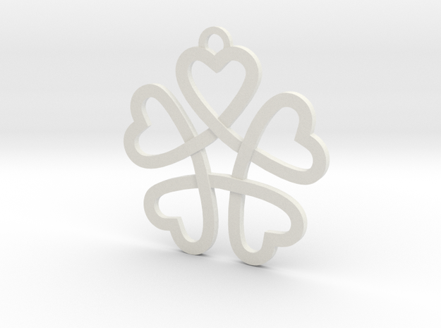 Heart necklace in White Natural Versatile Plastic