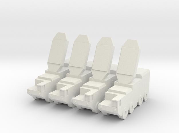 1.5 Inch S-300 (SA-20 Gargoyle) RADAR (x4) in White Natural Versatile Plastic