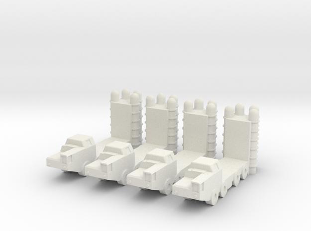2 Inch S-300 (SA-20 Gargoyle) SAM (x4) in White Natural Versatile Plastic