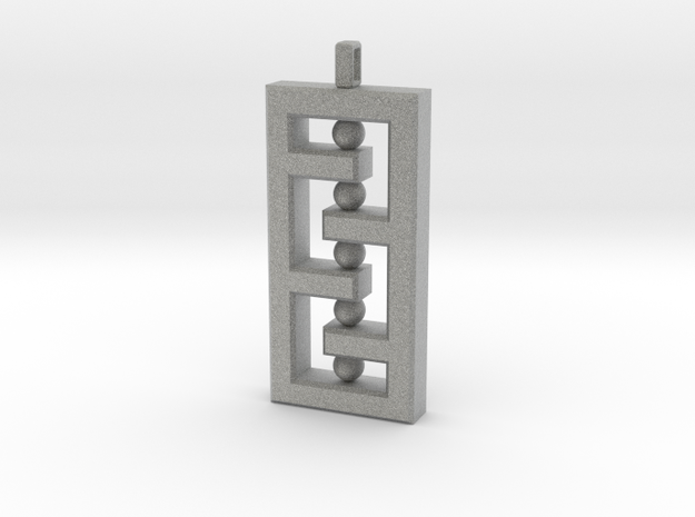 Art Deco Inspired Necklace Charm 3d printed