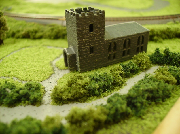 Country Church (T Gauge) 3d printed