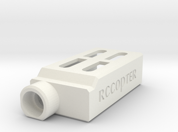 ImmersionRC 600mw Protection Case in White Natural Versatile Plastic
