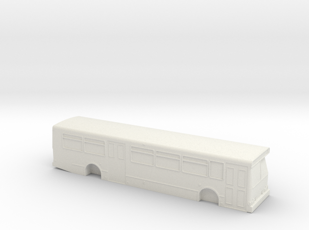 ho scale orion v bus (2) in White Natural Versatile Plastic