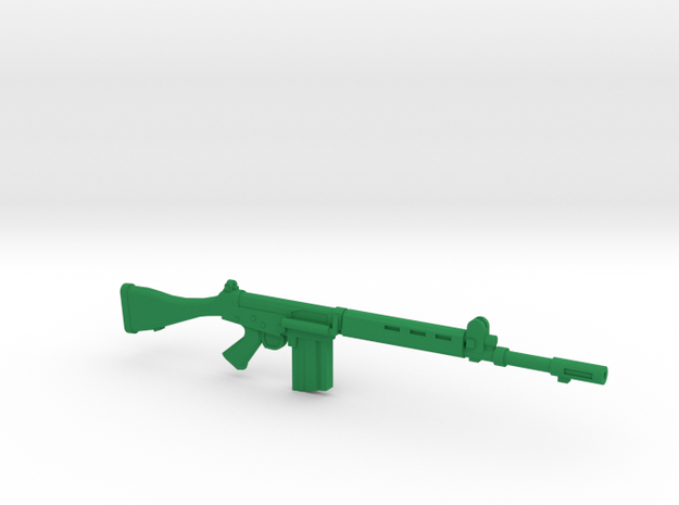 FN FAL 1:18 scale in Green Strong & Flexible Polished