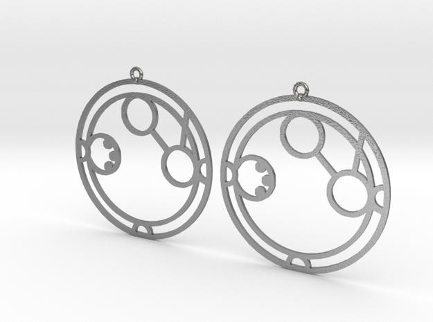 Amanda - Earrings - Series 1 in Raw Silver