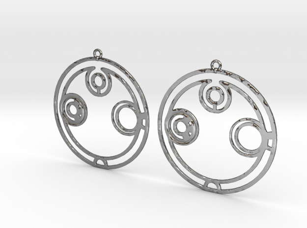 Annabelle - Earrings - Series 1 in Polished Silver