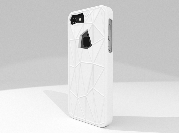 Faceted iPhone 5/5s Case in White Processed Versatile Plastic