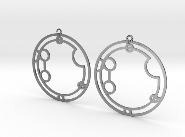 Autumn - Earrings - Series 1 in Polished Silver