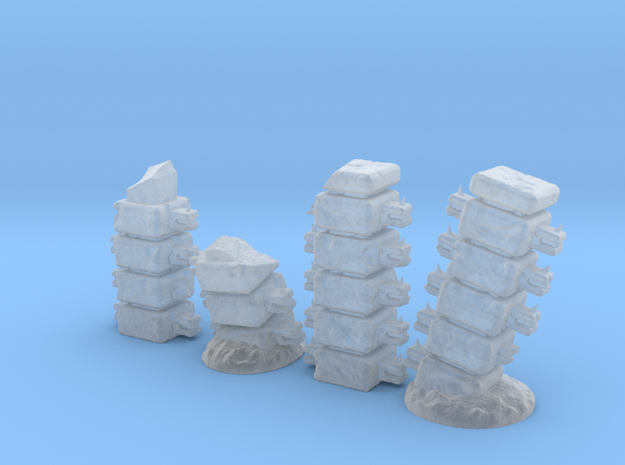 Block Columns (24mm high) in Frosted Ultra Detail