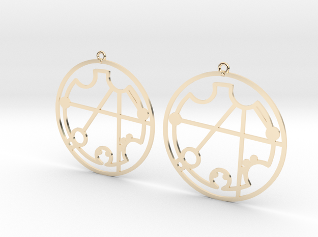 Christina - Earrings - Series 1 in 14K Yellow Gold