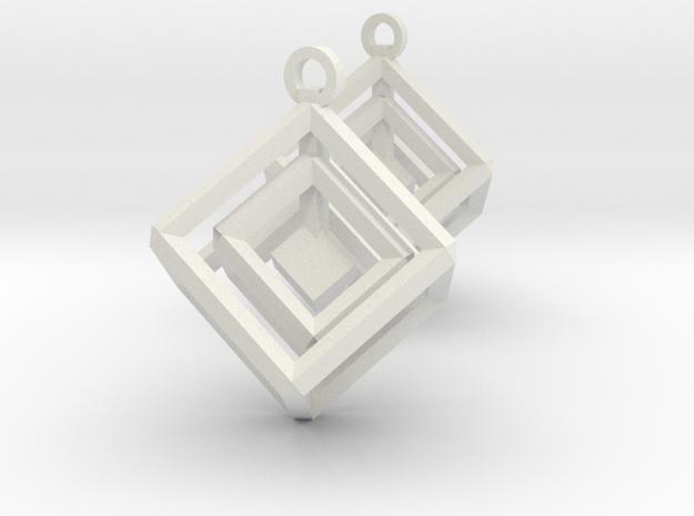 Box In Box in White Natural Versatile Plastic
