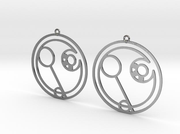 Eden - Earrings - Series 1 in Polished Silver