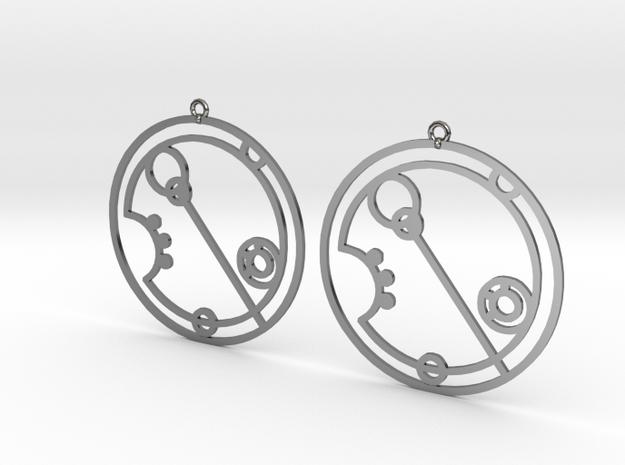 Eleanor - Earrings - Series 1 in Fine Detail Polished Silver