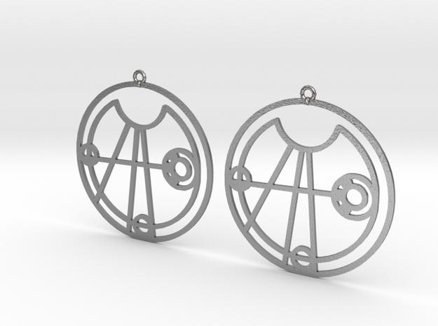 Elise - Earrings - Series 1 in Natural Silver