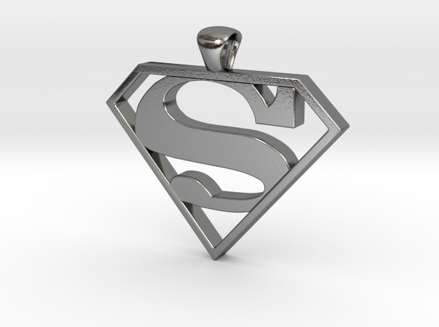 Superman Pendant - smaller 3d printed