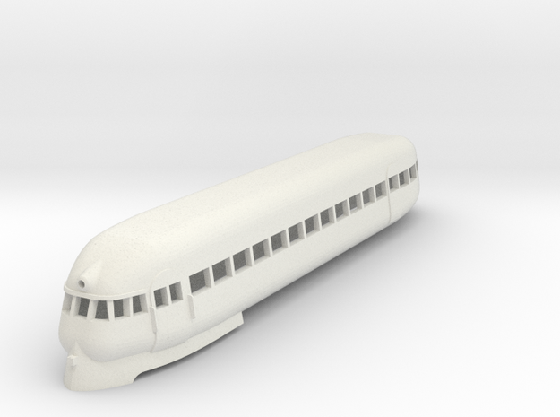 1/87 PULLMAN RAILPLANE CAR in White Strong & Flexible