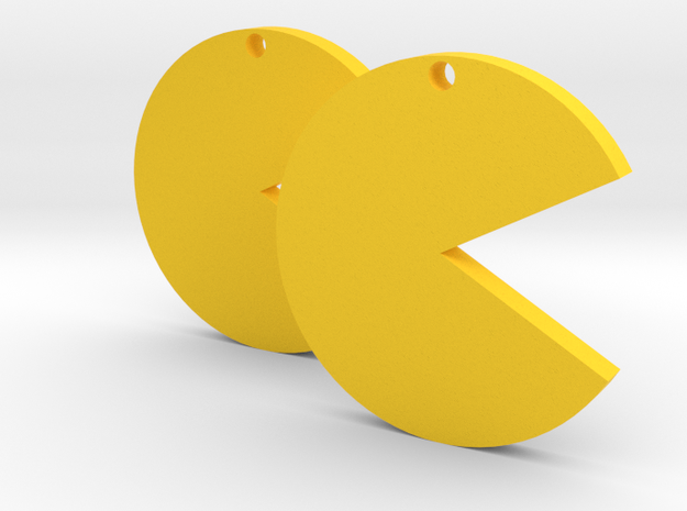 Pac-man in Yellow Processed Versatile Plastic