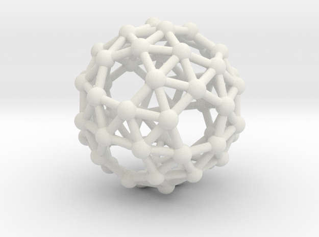 Snub Dodecahedron (right-handed) in White Natural Versatile Plastic