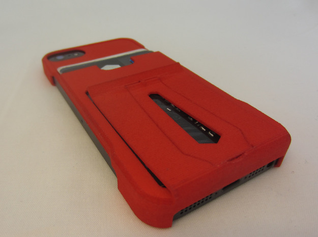 minimalistic  iphone 5 wallet case w/ money clip 3d printed