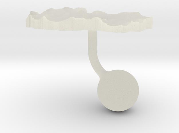 Macedonia Terrain Cufflink - Ball in Transparent Acrylic