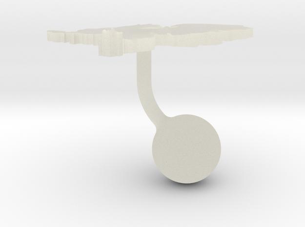 Netherlands Terrain Cufflink - Ball in Transparent Acrylic