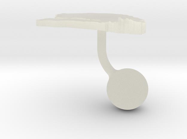 Senegal Terrain Cufflink - Ball 3d printed