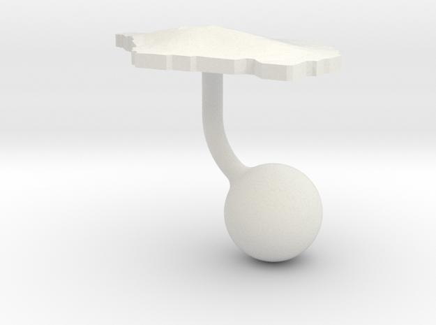 Samoa Terrain Cufflink - Ball in White Natural Versatile Plastic