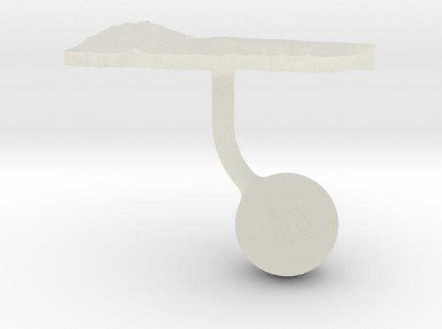 Yemen Terrain Cufflink - Ball in Transparent Acrylic