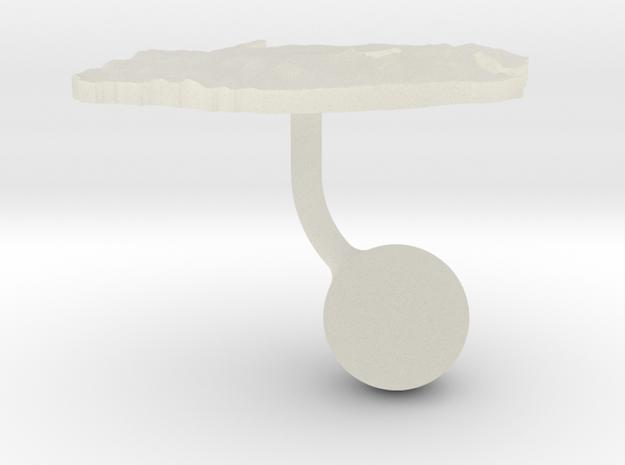 South Africa Terrain Cufflink - Ball in Transparent Acrylic
