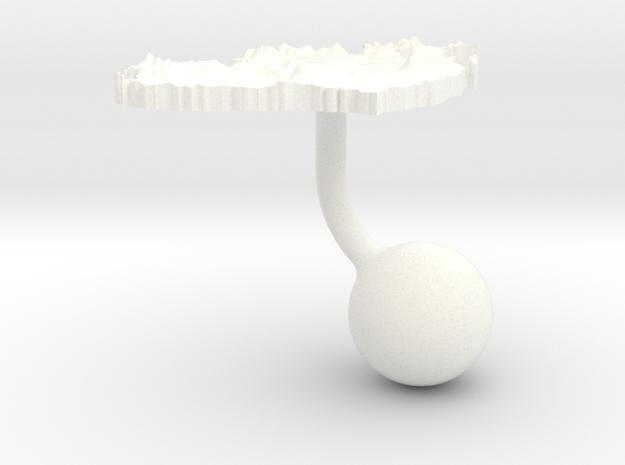 Ireland Terrain Cufflink - Ball 3d printed