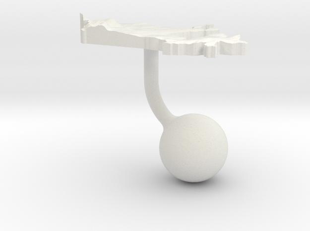 Canada Terrain Cufflink - Ball in White Natural Versatile Plastic
