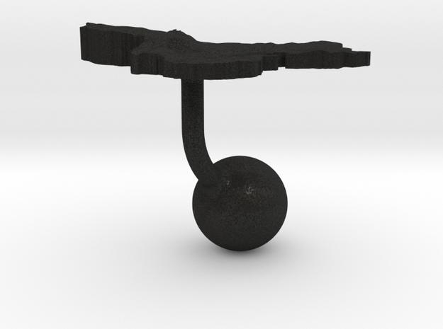 China Terrain Cufflink - Ball 3d printed