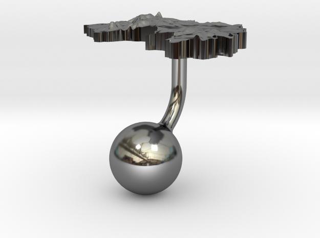 Guinea Terrain Cufflink - Ball 3d printed