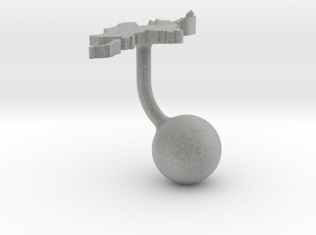 Myanmar Terrain Cufflink - Ball 3d printed