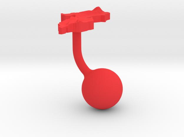 Malawi Terrain Cufflink - Ball 3d printed