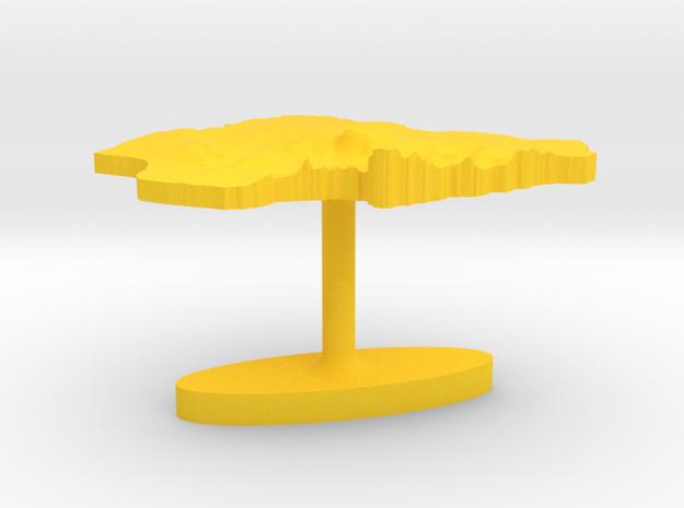 Nigeria Terrain Cufflink - Flat 3d printed