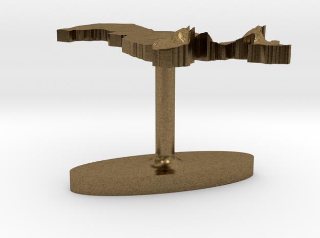 Uzbekistan Terrain Cufflink - Flat 3d printed