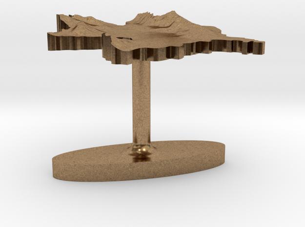 Azerbaijan Terrain Cufflink - Flat 3d printed