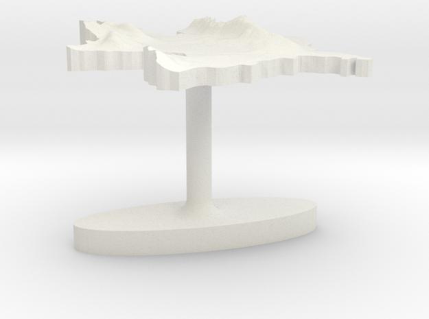 Azerbaijan Terrain Cufflink - Flat in White Natural Versatile Plastic
