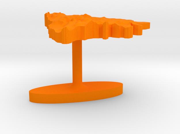 Bosnia and Herzegovina Terrain Cufflink - Flat 3d printed
