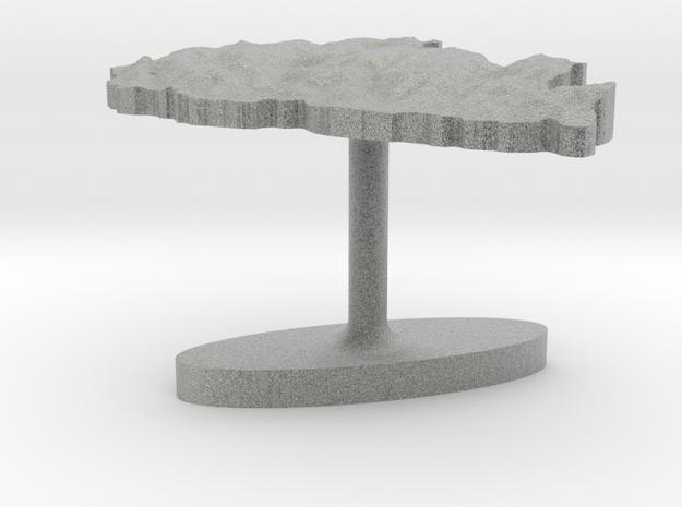 Bhutan Terrain Cufflink - Flat 3d printed