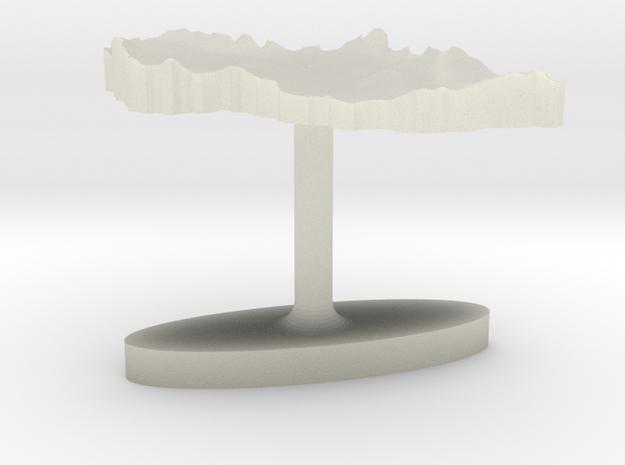 Czech Republic Terrain Cufflink - Flat in Transparent Acrylic