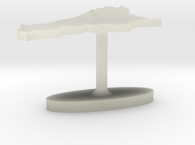 Argentina Terrain Cufflink - Flat 3d printed