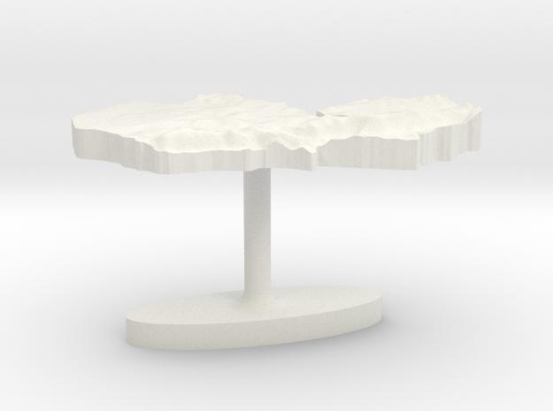 Zambia Terrain Cufflink - Flat in White Natural Versatile Plastic