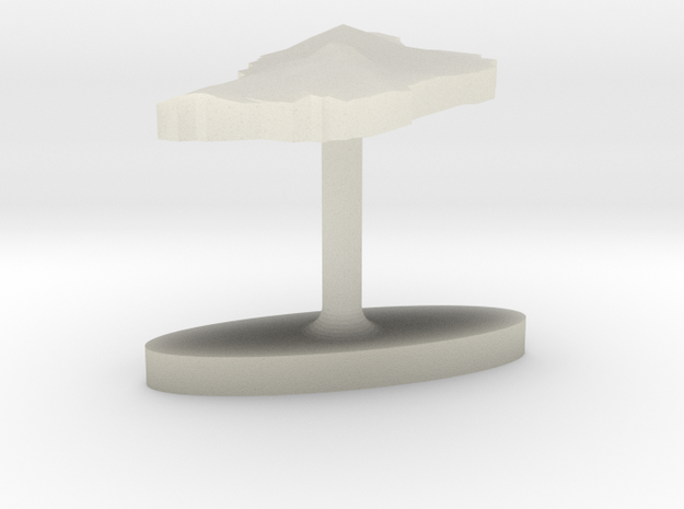 Dominica Terrain Cufflink - Plate 3d printed