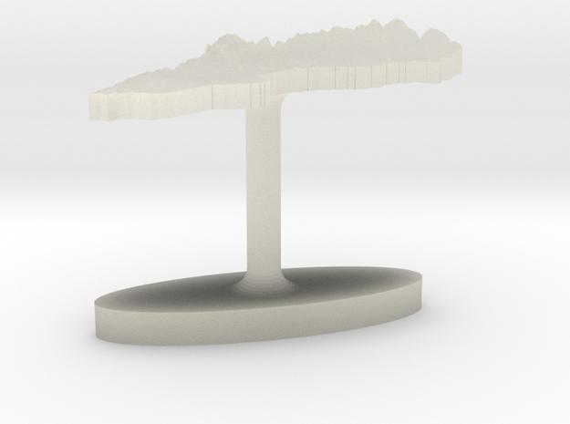 Sweden Terrain Cufflink - Flat in Transparent Acrylic
