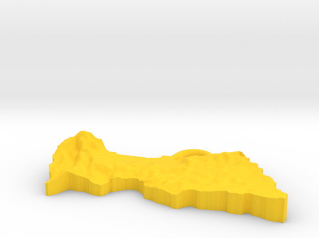 Central African Republic Earring 3d printed