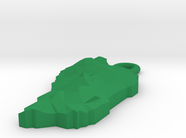 Dominica Earring 3d printed