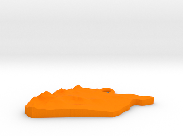 Syrian Arab Republic Earring 3d printed