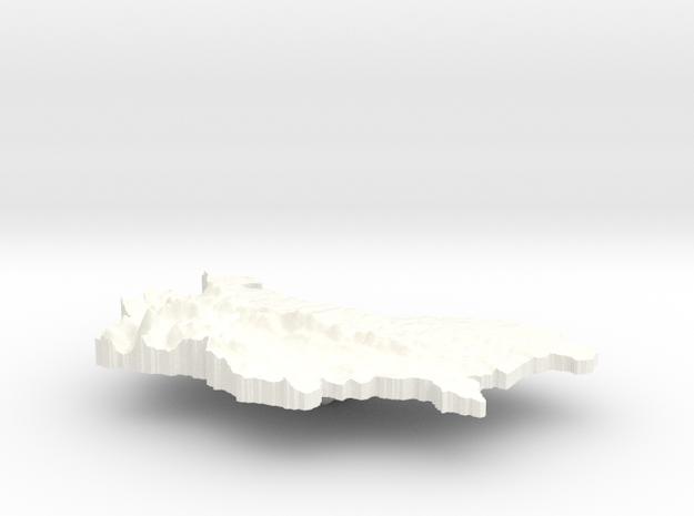 Bulgaria Terrain Silver Pendant 3d printed